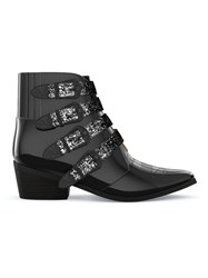 Toga Pulla Buckled Western Boots Black