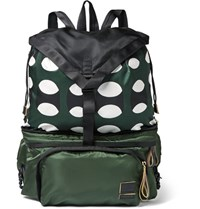 Marni Porter Yoshida And Co Adjustable Twill Backpack Green