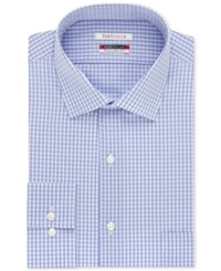Van Heusen Tek Fit Flex Collar Check Dress Shirt Blue