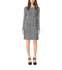 Michael Kors Herringbone Print Matte Jersey Dress Black
