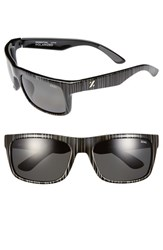 Women's Zeal Optics 'Essential' Polarized Plant Based Sunglasses Black Wood Grain Dark Grey