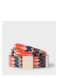 Paul Smith No.9 Women's Multi Coloured Patent Leather Belt Pink