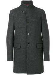 Fay Single Breasted Coat Men Viscose Virgin Wool S Grey