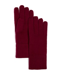 C By Bloomingdale's Cashmere Ribbed Gloves Mulberry