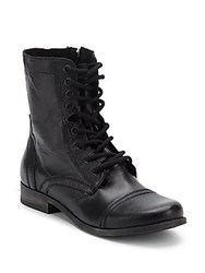 Steve Madden Lace Up Combat Boots Brown