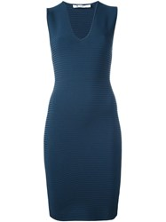 Alexander Wang T By Cut Out Fitted Dress Blue