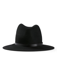 Rag And Bone Rag And Bone Fedora Hat Black