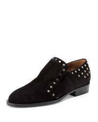 Jay Studded Suede Loafer Black Laurence Dacade