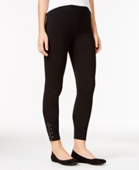 Styleandco. Style Co. Studded Zippered Leggings Only At Macy's Deep Black