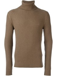 Dolce And Gabbana Ribbed Jumper Nude And Neutrals