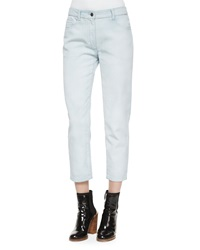 3.1 Phillip Lim Ceramic Washed Saddle Ankle Jeans Glacier