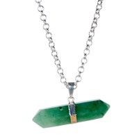 Tiana Jewel Goddess Green Quartz Necklace Siena Collection