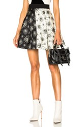 Fausto Puglisi Sol Stamp Skirt In Abstract Black White Abstract Black White