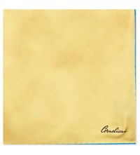 Corneliani Solid Silk Pocket Square Yellow