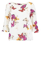 Wallis Petite Butterfly Blouse Ivory Off White