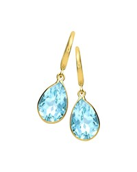 18K Gold Eternal Blue Topaz Teardrop Earrings Kiki Mcdonough Gold Blue