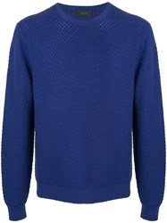 D'urban Round Neck Jumper Blue