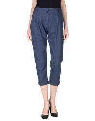 Tanomu Ask Me Trousers Casual Trousers Women Blue