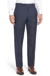 Men's Jb Britches Flat Front Solid Wool Trousers
