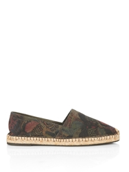 Valentino Butterfly Print Canvas Espadrilles
