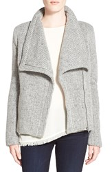 Cupcakes And Cashmere 'Rue' Drape Collar Knit Jacket Grey