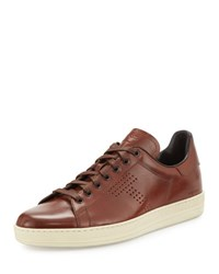 Tom Ford Warwick Leather Low Top Sneaker Brown