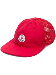 Moncler Logo Patch Trucker Cap Red