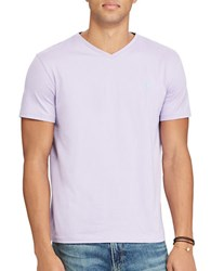Polo Big And Tall Jersey V Neck Tee York Purple