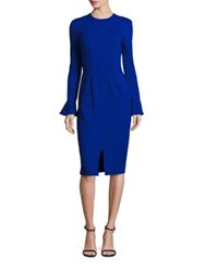 David Meister Bell Sleeve Shift Dress Iris