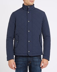 Wrangler Navy Quilted Jacket Blue