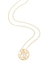 Small 2 Initial Monogram Necklace Yellow Gold 18' K Kane