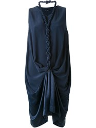 Assin Plaited Rope Detail Dress Blue