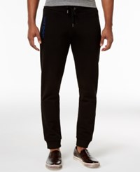 Versace Jeans Men's Embroidered Pocket Sweatpants Nero