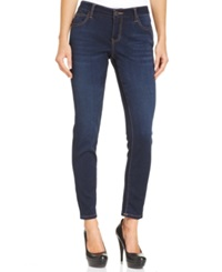 Celebrity Pink Jeans Juniors' Super Soft Curvy Fit Skinny Jeans Queen Super Dark Wash