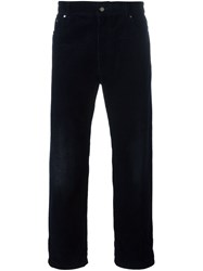 Golden Goose Deluxe Brand 'Wide' Corduroy Trousers Blue