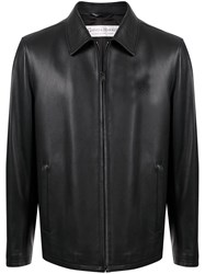 Gieves And Hawkes Colour Block Leather Jacket 60