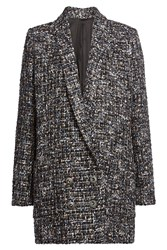 The Kooples Tweed Jacket With Wool Multicolor