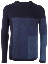 Pal Zileri Tonal Geometric Jumper Blue