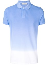 Pringle Of Scotland Faded Polo Shirt Blue