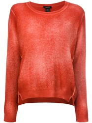 Avant Toi Overdyed Long Sleeve Sweater Women Cashmere L Red