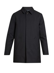 A.P.C. Preston Single Breasted Wool Overcoat Black