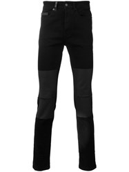 Marcelo Burlon County Of Milan Patched Knee Jeans Black