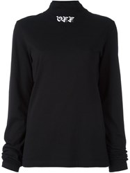 Off White Gothic Mock Neck Jumper Black