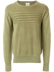 Gant Rugger Cable Knit Detail Jumper Green