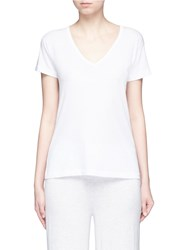 Vince Slub Pima Cotton Jersey T Shirt White