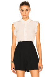 Stella Mccartney Silk Crepe Blouse In White