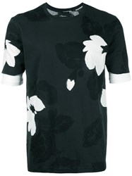 3.1 Phillip Lim Floral Pattern T Shirt Black