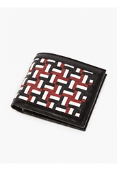 Thom Browne Men's Woven Leather Billfold Wallet