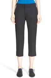 Lanvin Crop Wool Tux Pants Black