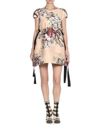 Fendi Bambolina Fil Coupe Cocktail Dress Beige
